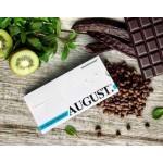 """Шоколад на основе кэроба """"AUGUST"""" с киви, мятой и кедровыми орешками"""
